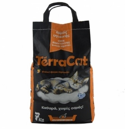 Orange scented sanitary sand for cats