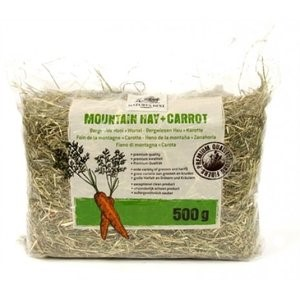 Natures best hay for rabbits with carrot